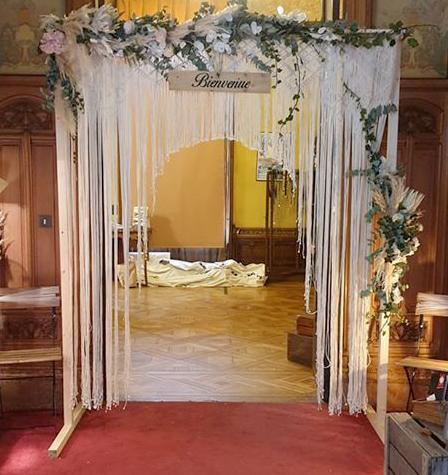 Arche macramé  Mariage Flo Events
